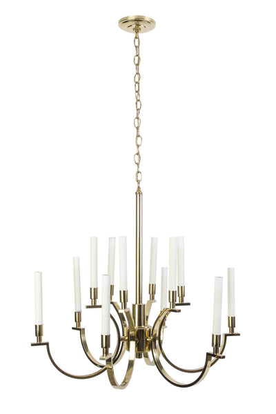 Exquisite 1970's Mid-Century Modernist Candelabra Chandelier By Frederick Cooper - Art Deco Antiques  - 1