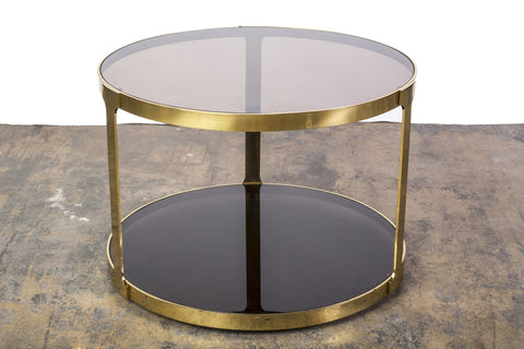 Gorgeous Italian Mid-Century Modernist Bronze Side Table - Art Deco Antiques  - 1