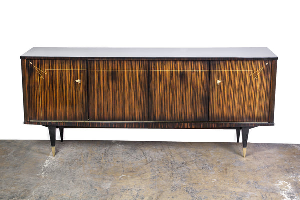 BeautifulFrench Art Deco Buffet / Sideboard In Macassar Ebony And Sycamore Interior - Art Deco Antiques  - 7