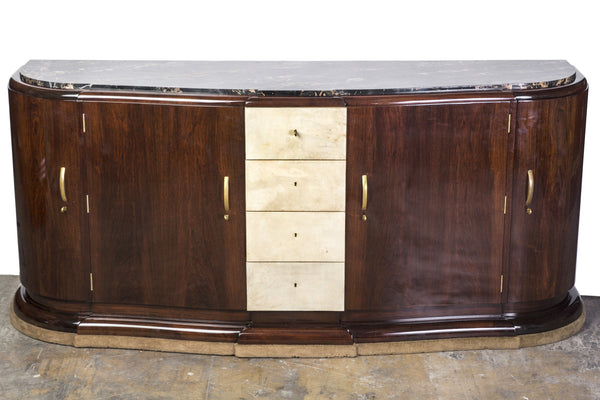 Elegant 1930's French Art Deco Sideboard Signed Maurice Rinck - Art Deco Antiques  - 1