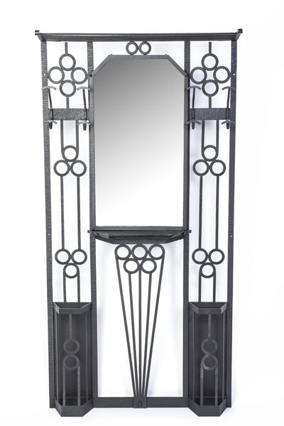 Luxe Wrought Iron Coat / Umbrella Rack - Art Deco Antiques  - 1