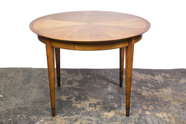 French Art Deco Sycamore Sunburst Dining Table by Dominique. - Art Deco Antiques  - 1