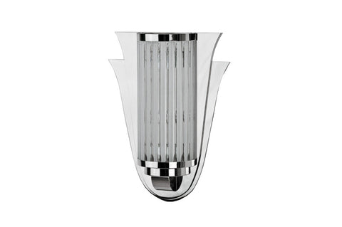 Captivating Streamlined Art Deco Wall Sconce - Art Deco Antiques