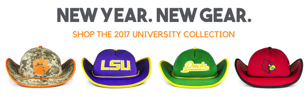 Cowbucker Collegiate College Football Hats Clemson LSU Oregon Louisville