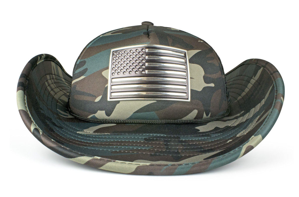The Chrome & Country American Flag Bucker