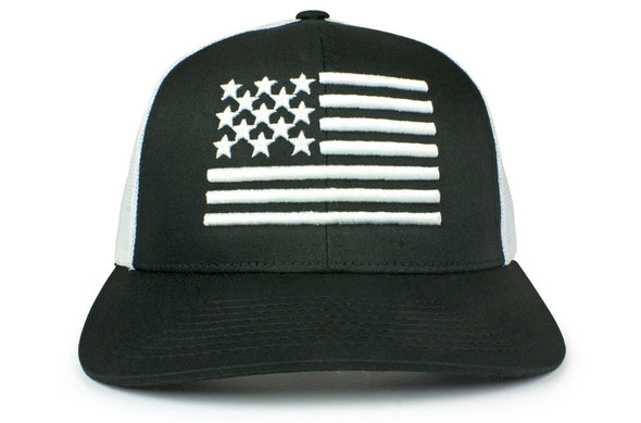 The Raised Flag American Trucker (White)