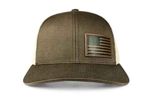 10c0c45610fbd The Offset Leather American Flag Trucker