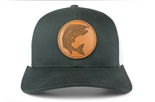 The Leather Walleye Trucker Hat