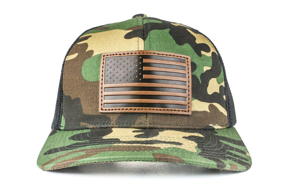The Leather American Flag Trucker