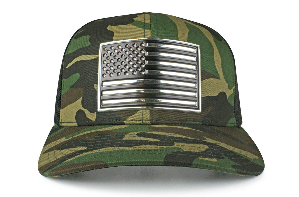 The Chrome & Country American Flag Trucker