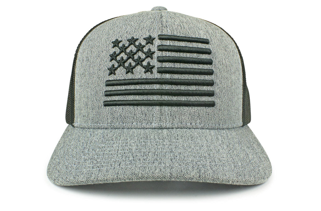 The Raised Flag American Trucker (Black)