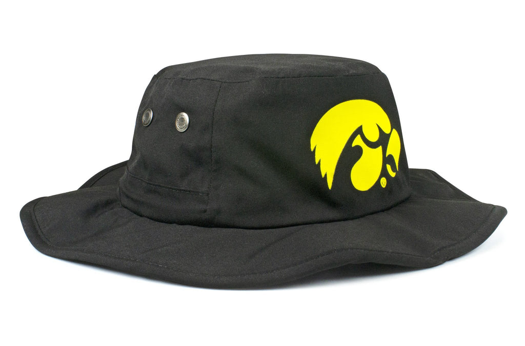 The Iowa Hawkeyes Black All-Weather Lined Wool Boonie