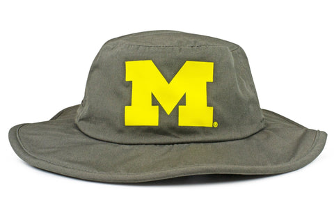 The Michigan Wolverines Gray All-Weather Lined Wool Boonie
