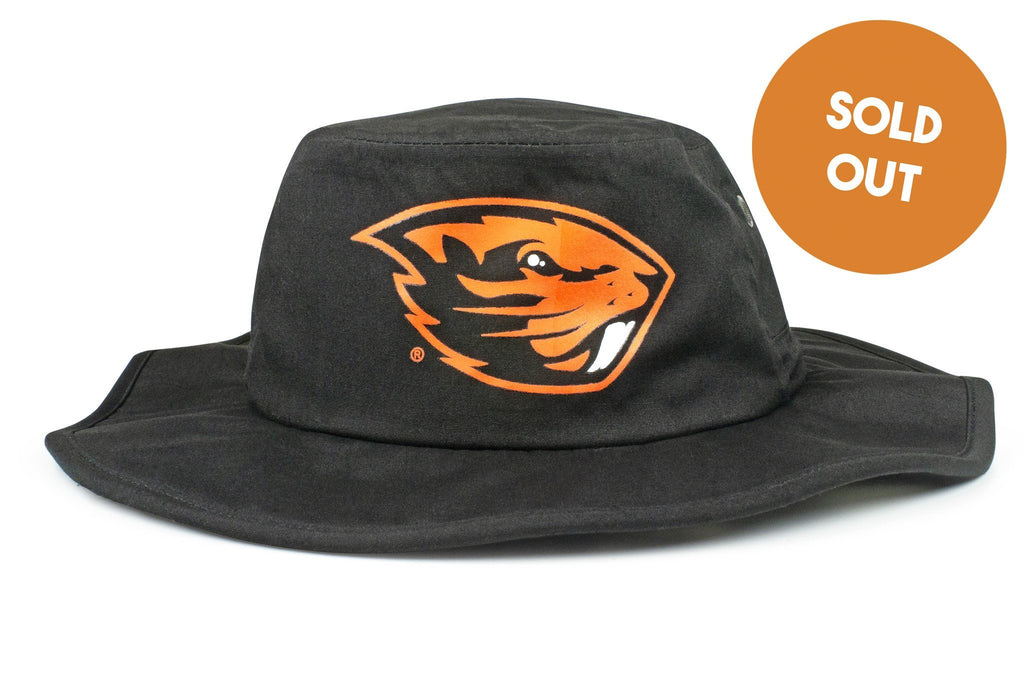 The Oregon State Beavers Black All-Weather Lined Wool Boonie