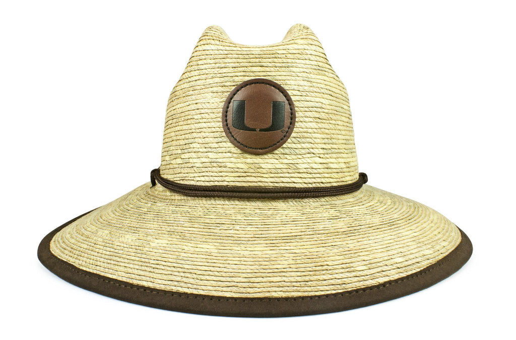 The Miami Hurricanes Crushable Palm Sun Hat