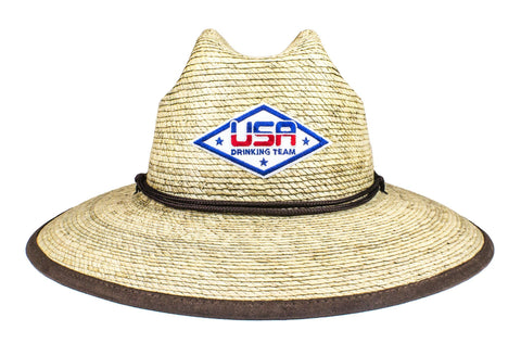 The USA Drinking Team Palm Sun Hat