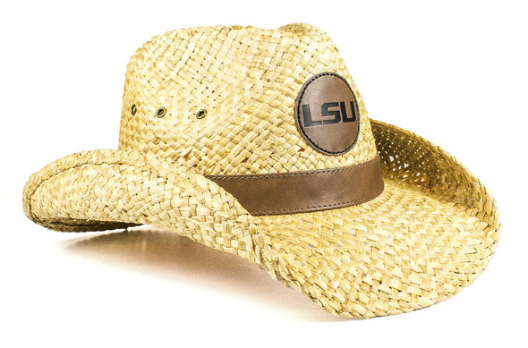 The LSU Tigers Leather Strawboy