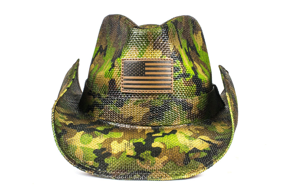 The Leather American Flag Camo Strawboy