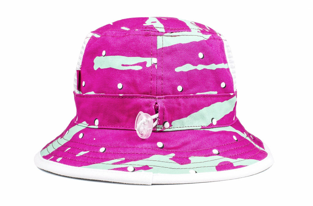 The 90s Slashed Blue/Pink Reversible Bucket Hat
