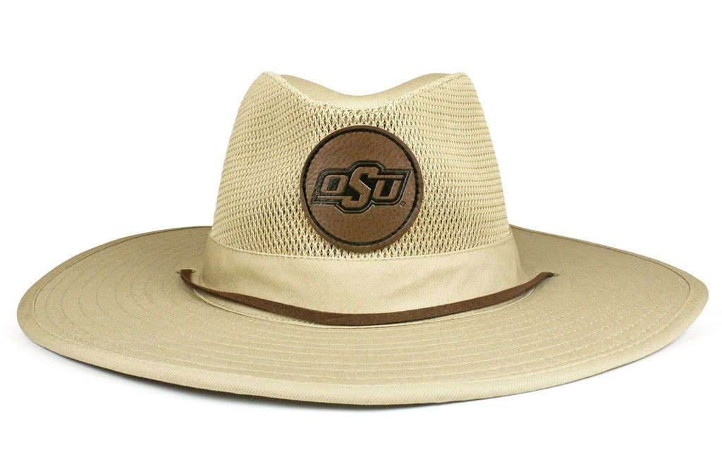 The Oklahoma State Cowboys Leather Safari Hat