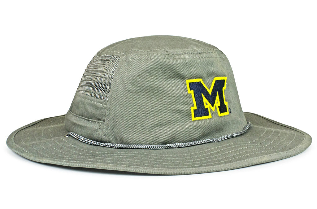 The Michigan Wolverines Gray Boonie