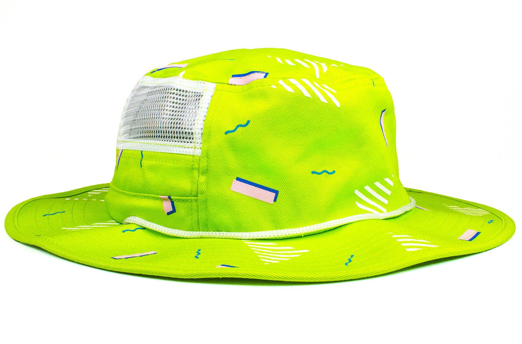 The 90s Neon Green Confetti Party Boonie