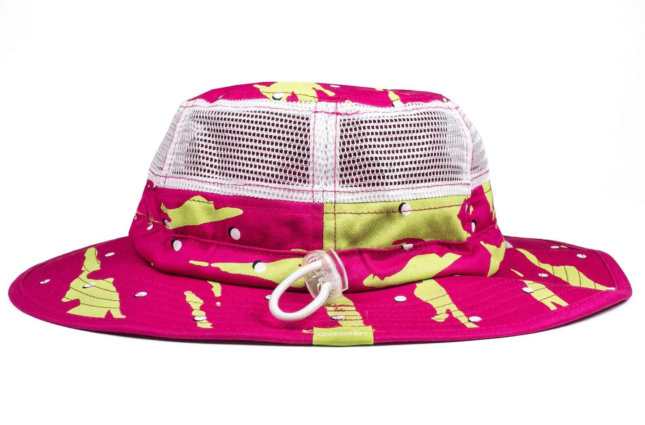 The 90s Slashed Pink Green Party Boonie - Cowbucker bd844d146d6