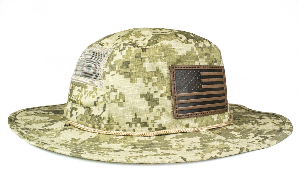 The Leather American Flag Camo Boonie