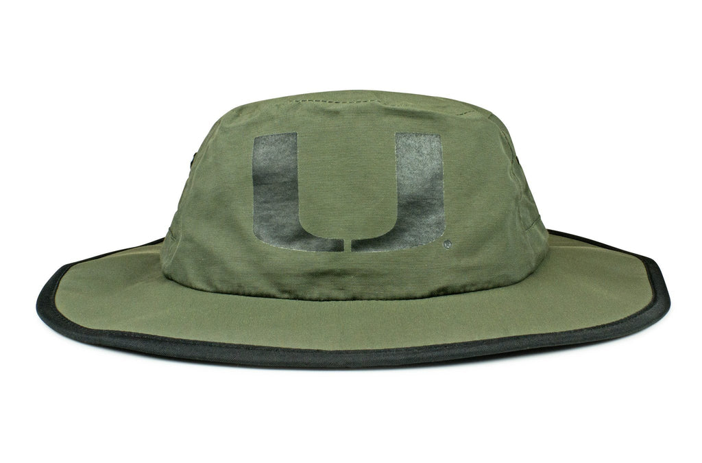 The Miami Hurricanes Olive Waterproof Boonie
