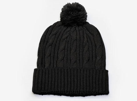 Cable Knit Pom-Pom Beanie (643K - PH)