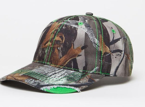 Distressed Camo Cap (696C - PH)