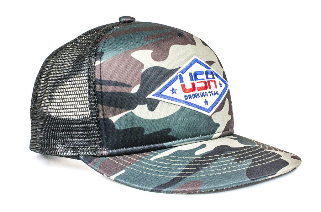 The USA Drinking Team Camo Trucker