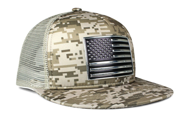 The Chrome & Country American Flag Foam Trucker