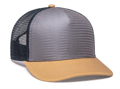 Mesh Overlay 5-Panel Trucker Snapback (724 - PH)