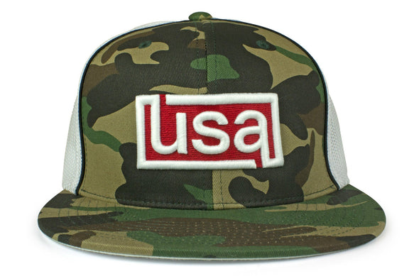 The 3D USA Flatbill Flexfit Trucker