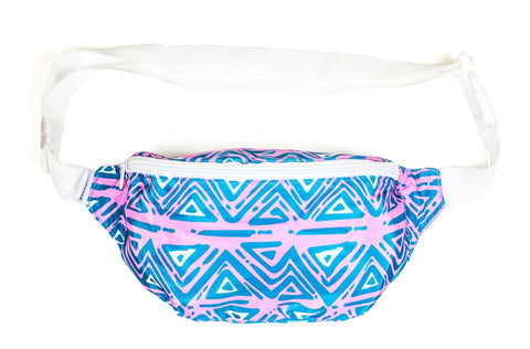 The 90s Blue Aztec Party Fanny Pack