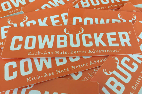 "Cowbucker ""Better Adventures"" Sticker"