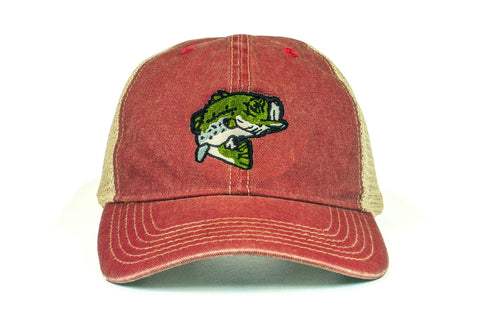 Largemouth Bass Vintage Trucker