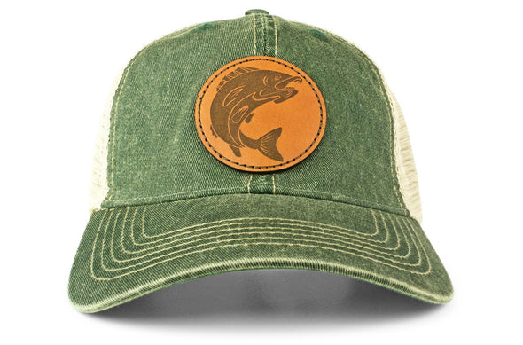 The Leather Walleye Vintage Trucker