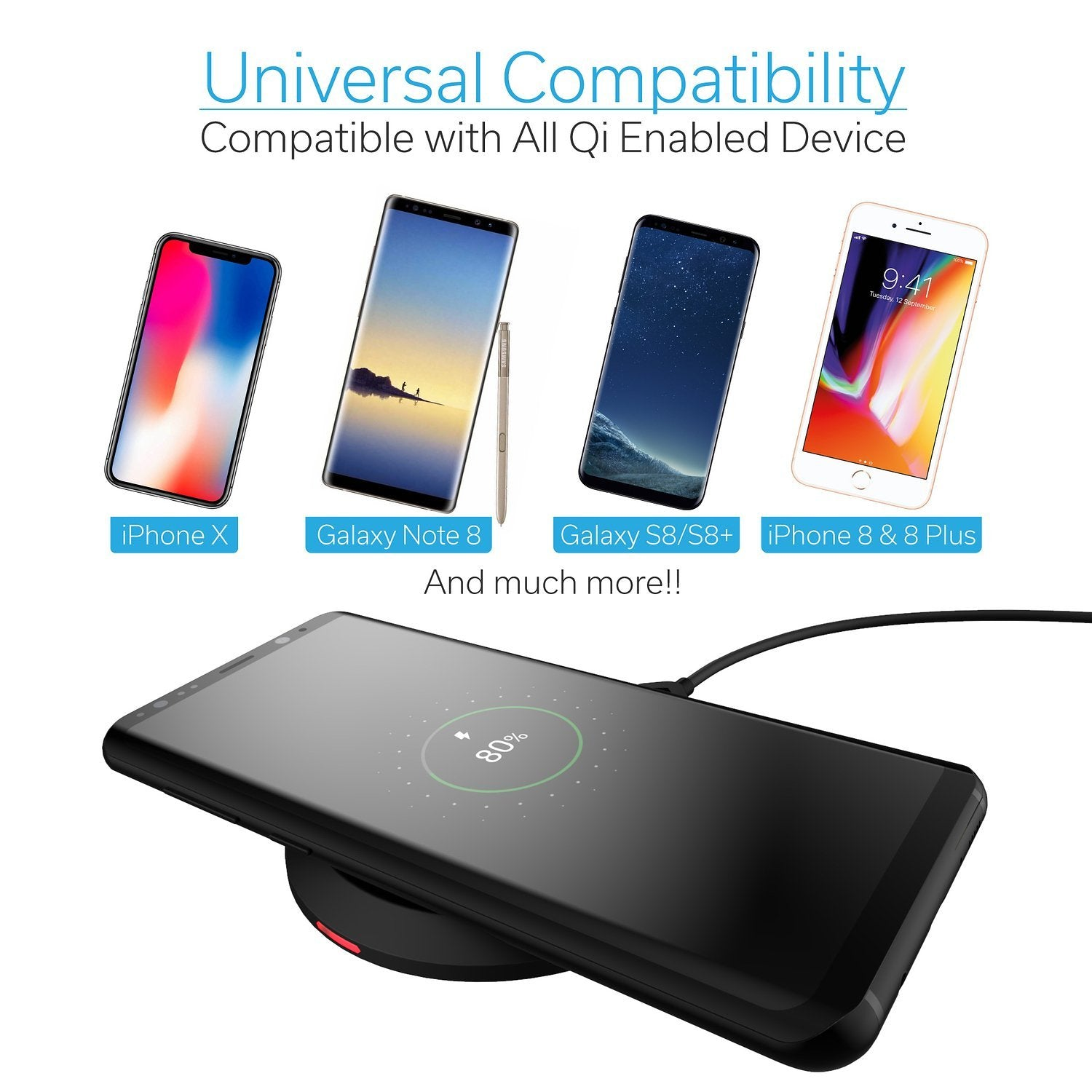 new arrival 72660 4e1cf Qi Wireless Charging Pad, Black