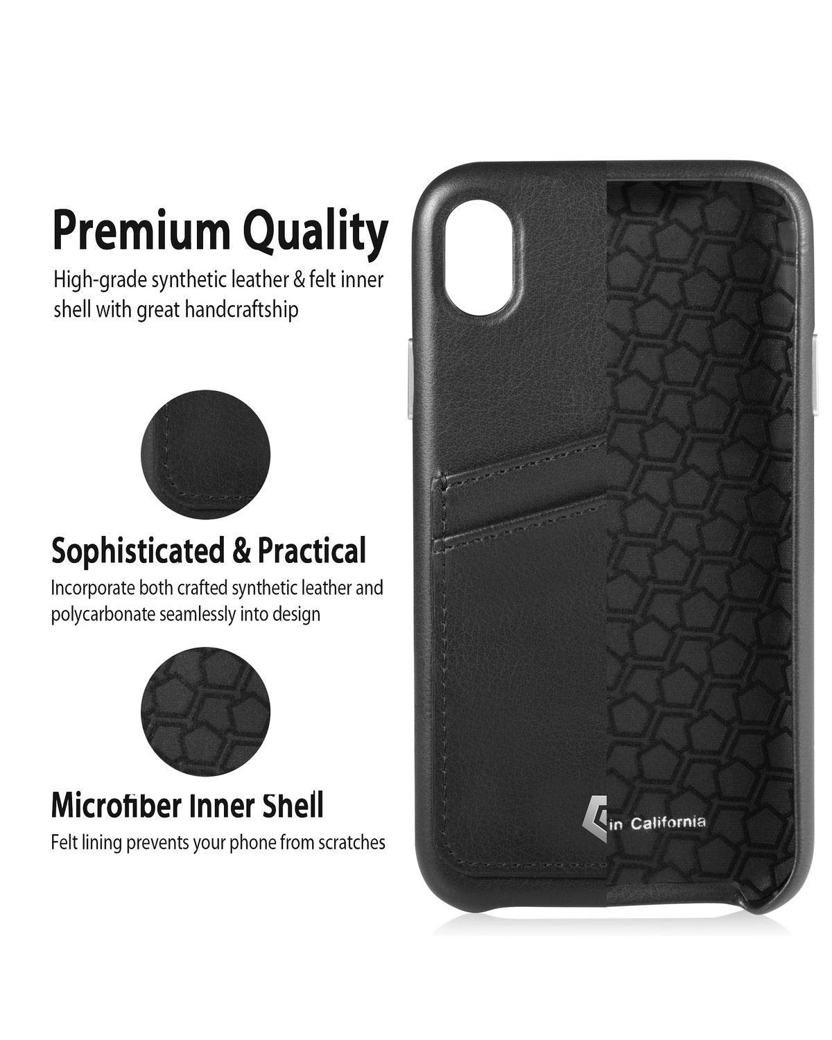quality design dc2a3 a001f Black Leather Textured Back Cover Case for iPhone XR