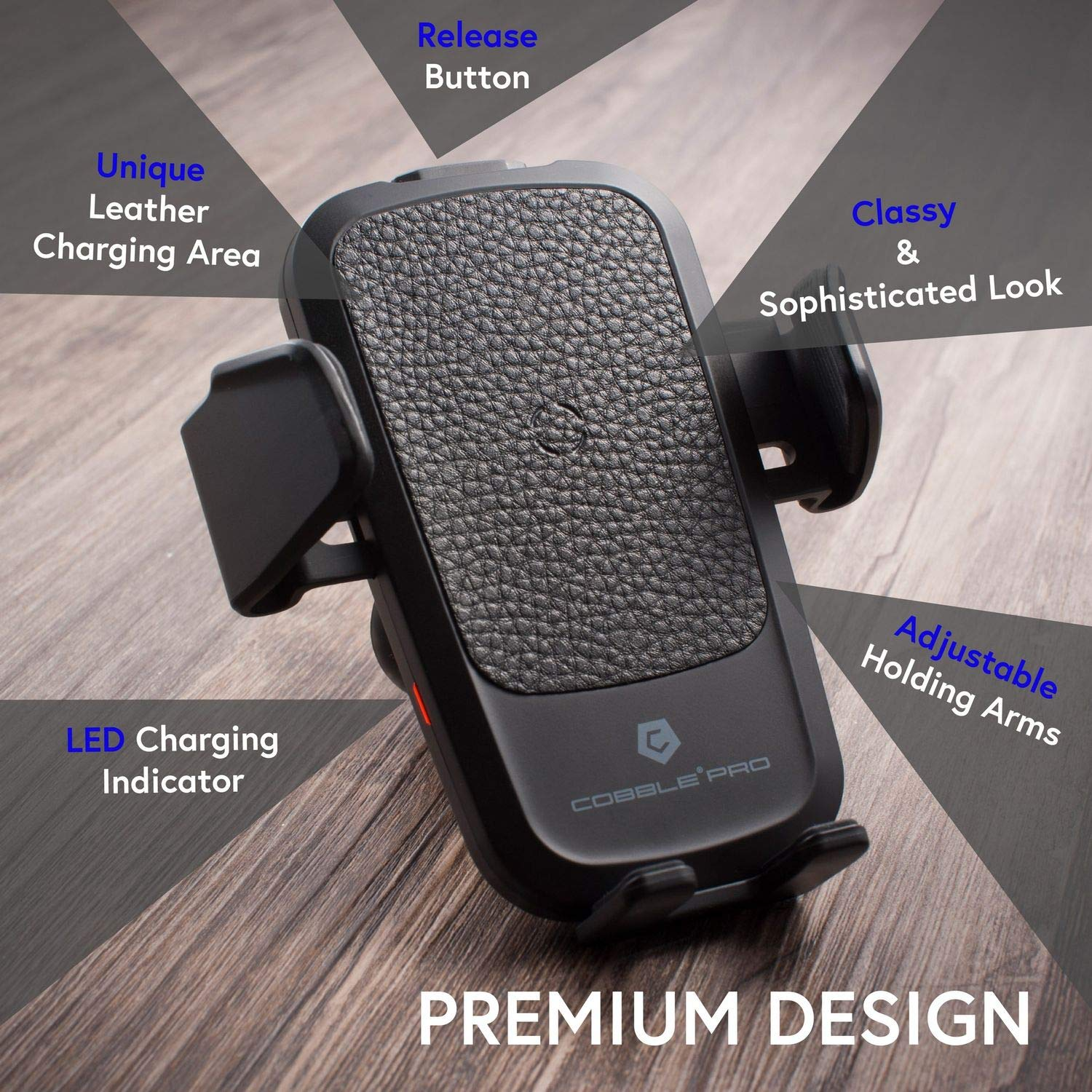 10W Fast Wireless Charge Air Vent Car Mount
