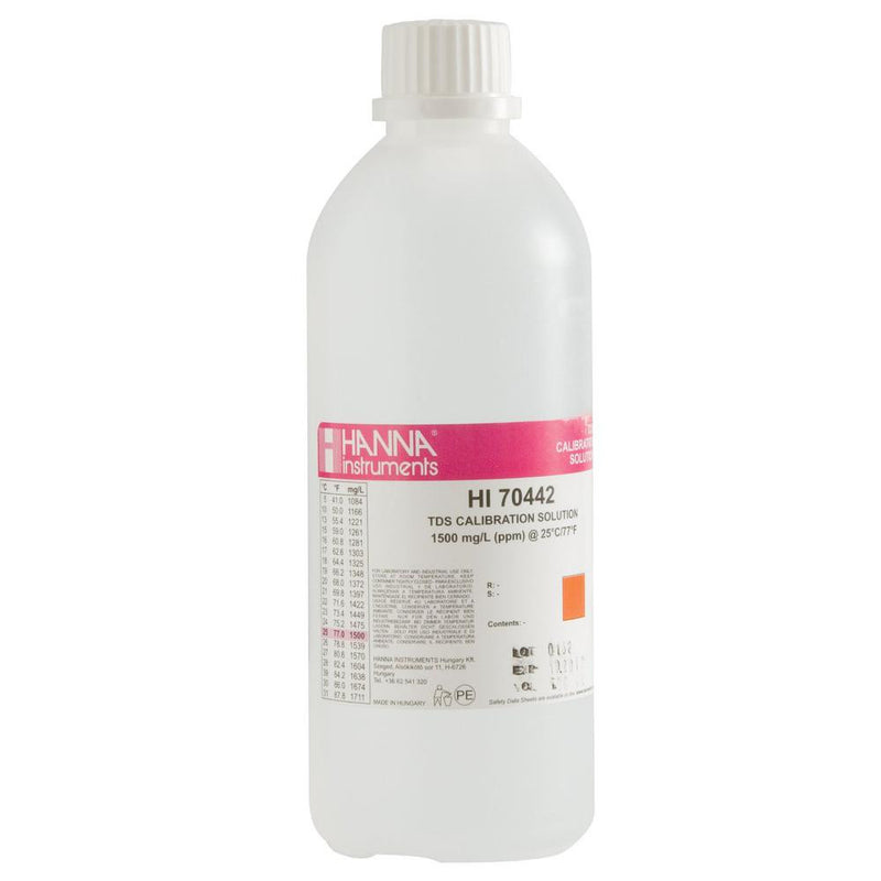 HI 70442L - 1500 mg/L (ppm) TDS @25°C - 500ml - Acorn Scientific