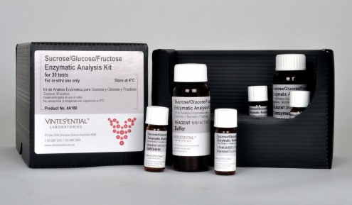 Vintessential Enzymatic Test Kit: Sucrose + D-Glucose + D-Fructose, 30 Tests
