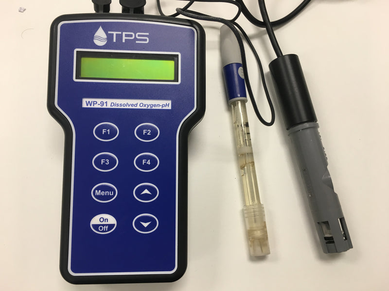 TPS WP91 Waterproof Dissolved Oxygen-pH-mV Meter with 1m cable, YSI & pH sensors