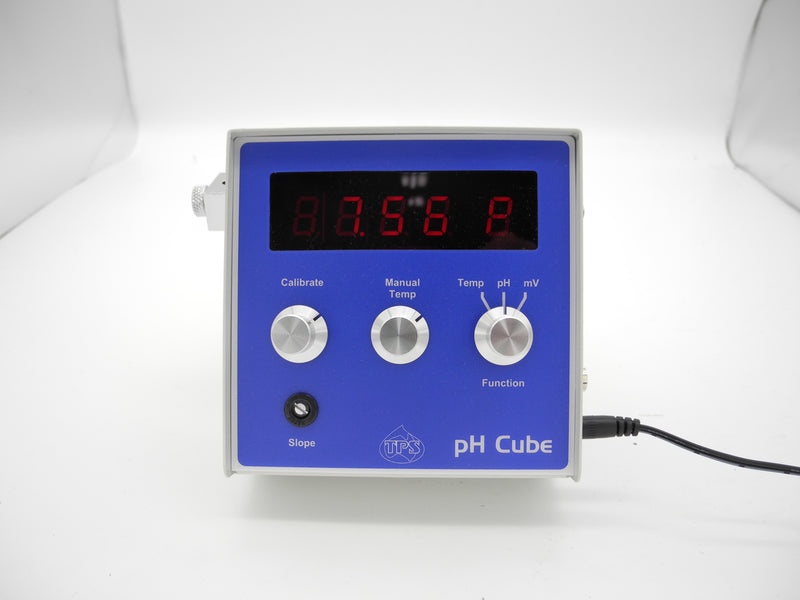 TPS pH Cube pH-mV-Temp Meter with pH & Temp sensors