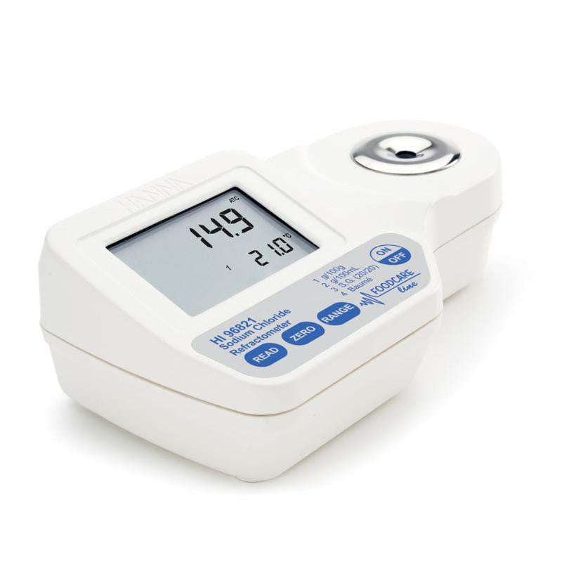 H I96821 Sodium Chloride - Digital Refractometer Portable - Acorn Scientific