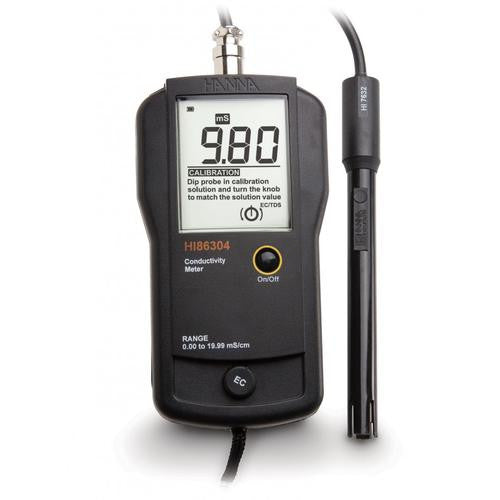 HI 86304  EC Portable Meter 0.01 mS/cm resolution