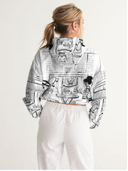 """Cafe' Print"" Cropped Jacket"
