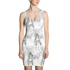 """Paris Streets"" Printed Tank Dress"